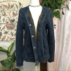 Lucky Brand Quilted Chambray Jacket
